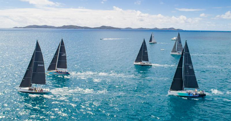 Yachts enjoyed great sailing conditions for the Island Invitational Race on the second day of the BVI Spring Regatta & Sailing Festival © Alastair Abrehart