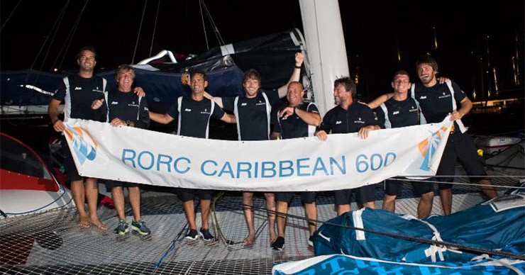 Team Maserati celebrate their record and line honours