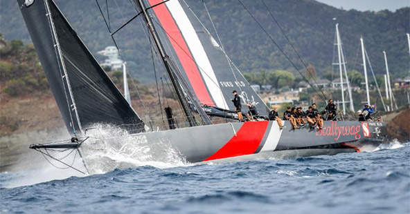 Seng Huang Lee's 100ft Scallywag, skippered by Australian David Witt