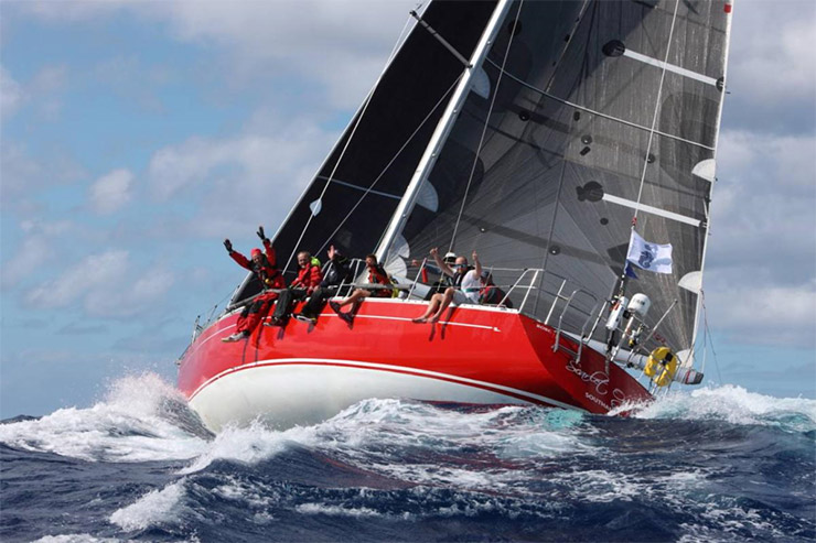 Aiming to hold onto their class win for the 7th time in a row. Racing in IRC Two - Ross Applebey's Swan 48  Scarlet Oyster