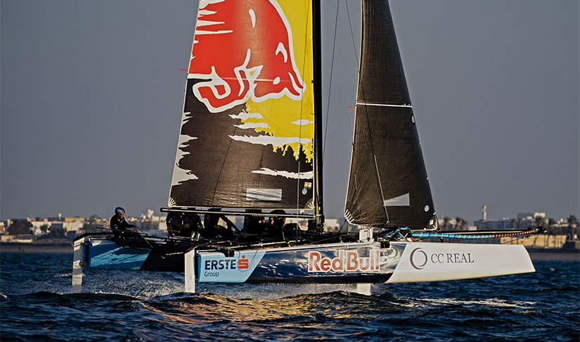 Red Bull Sailing Team in their new colours