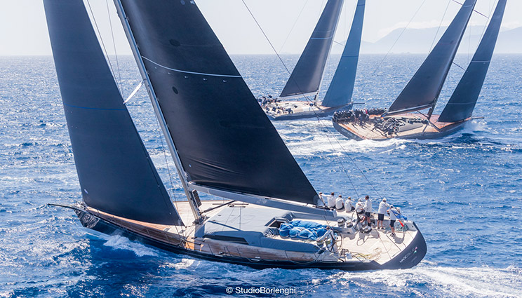Wally fleet at the Loro Piana Superyacht Regatta 2019