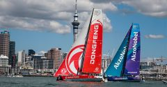 Dongfeng Race Team in Auckland