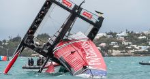 Emirates Team New Zealand capsize in Bermuda