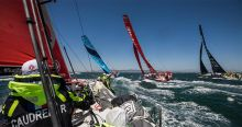 Volvo Ocean Race fleet Cape Town