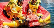 Survival at sea drills