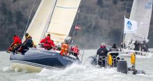 Harry J. Heijst's venerable S&S41 Winsome receiving coaching at the RORC Easter Challenge
