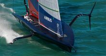 New York Yacht Club American Magic is leading the PRADA ACWS Auckland